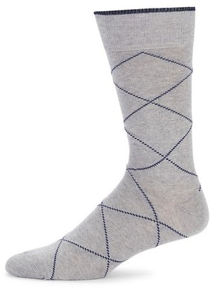 Saks Fifth Avenue Printed Crew Socks