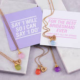 J&S Jewellery Teardrop Bridesmaid Gift Necklace
