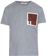 Valentino Bead-embellished Cotton-jersey T-shirt