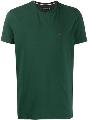 Tommy Hilfiger flag embroidery slim-fit T-shirt