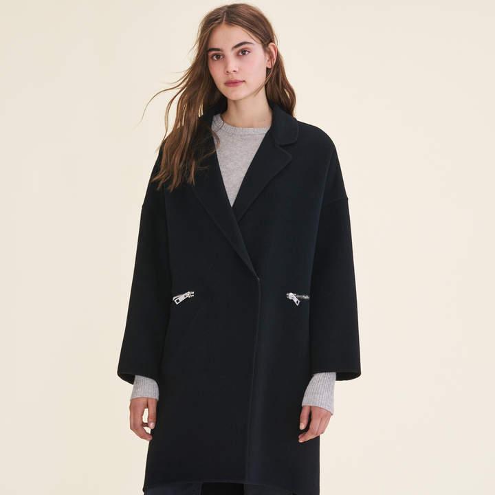 Maje Double-sided wool coat