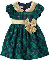 Bonnie Jean Toddler Girl Metallic Plaid Taffeta Dress
