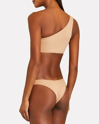 Frankie's Bikinis Barb One-Shoulder Bikini Top