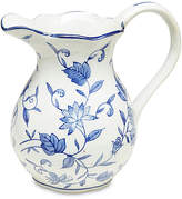 One Kings Lane Blue Floral Pitcher