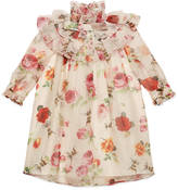 Gucci Children's rose print organza dress