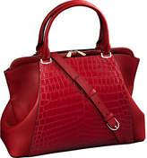 Cartier C de crocodile skin and leather bag