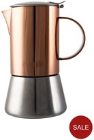 La Cafetiere 3 Cup Stainless Steel And Copper Stovetop