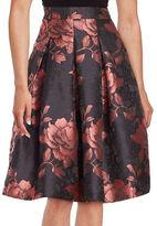 Eliza J Floral Jacquard Skirt