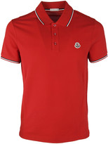Moncler Contrast-Trim Polo Shirt
