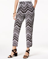 Amy Byer Juniors' Printed Cropped Soft Pants