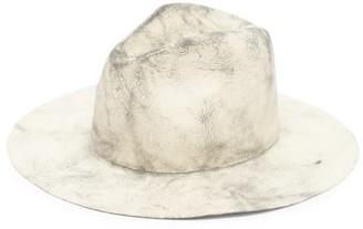Reinhard Plank Hats - Norma Felt Fedora Hat - Grey Multi