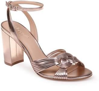 Badgley Mischka Krystal Knotted Block Heel Sandal