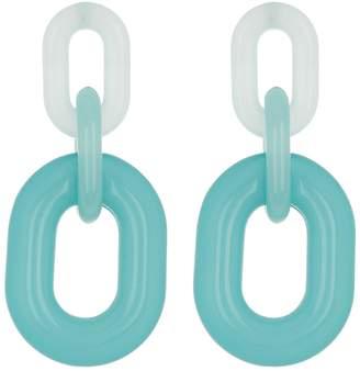Steve Madden Oval Link Drop Earrings