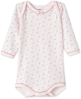 Petit Bateau Baby girls printed long-sleeved bodysuit
