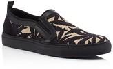 MSGM Leaf Print Slip On Sneakers