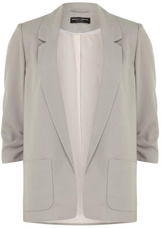 Dorothy Perkins Grey soft longline blazer