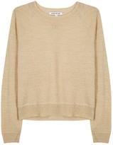Elizabeth and James Waynne Gold Fine-knit Wool Blend Jumper