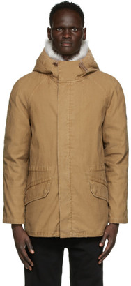 Army by Yves Salomon Yves Salomon - Army Brown Down and Fur Jacket