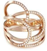 Repossi 'La Ligne C' diamond 18k rose gold ring