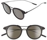 Salt Men's Taft 46Mm Polarized Round Sunglasses - Matte Black/ Black Sand