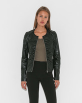 Elizabeth and James Jean Ruched Zip-Front Jacket