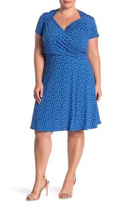 Leota Sweetheart Faux Wrap Dress (Plus Size)
