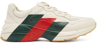 Gucci Rhyton Leather Low Top Trainers - Mens - White Multi