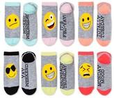 Xhilaration Women's 6-pk Low-Cut Socks Emoji Day Heather Gray One Size