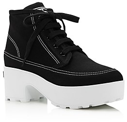 Miu Miu Women's Canvas Platform Sneakers