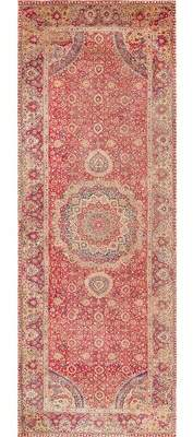 Nazmiyal Collection 17th Century Mughal Gallery Antique Red Area Rug Nazmiyal Collection