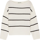 Vince Striped Cashmere Sweater - Ivory
