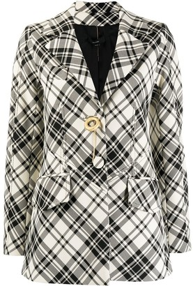 Ellery Checked Oversized Jacket