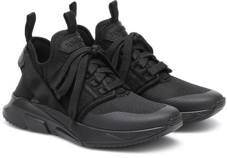 Tom Ford Jago leather and mesh sneakers