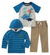 Kids Headquarters Little Boy's Dinosaur Three-Piece Tee, Hoodie and Jogger Pants Set