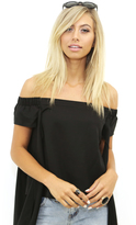 West Coast Wardrobe Dreamers Crop Top in Black