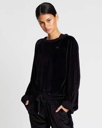 Running Bare On The Move Cropped Sweat Top