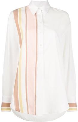 Victoria Victoria Beckham Striped Oversized Shirt