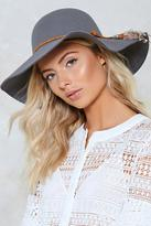 Nasty Gal nastygal Better Luck Feather Floppy Hat