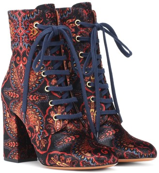 Etro Exclusive to Mytheresa Paisley velvet ankle boots