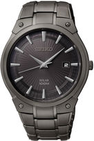 Seiko Mens Black Ion Stainless Steel Solar Watch SNE325