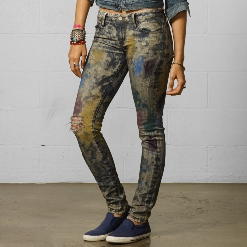 Denim & Supply Ralph Lauren Paint Splatter Skinny Jean