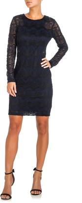 GUESS Two-Tone Lace Sheath Dress
