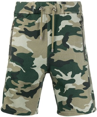 Balmain Camouflage Print Track Shorts