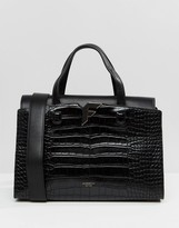 Fiorelli Brompton Tote Bag in Black Croc