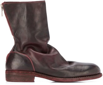 Guidi Relaxed Low Heel Ankle Boots