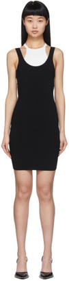 Alexander Wang Black and White Bi-Layer Sleeveless Dress