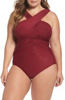 Plus Size Women's Miraclesuit High Neck One-Piece Swimsuit