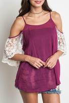 Umgee USA Lace Berry Blouse