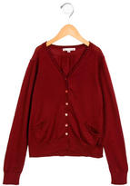 Bonpoint Girls' Wool Button-Up Cardigan
