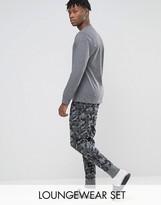 Esprit Pyjama Set In Camo Print